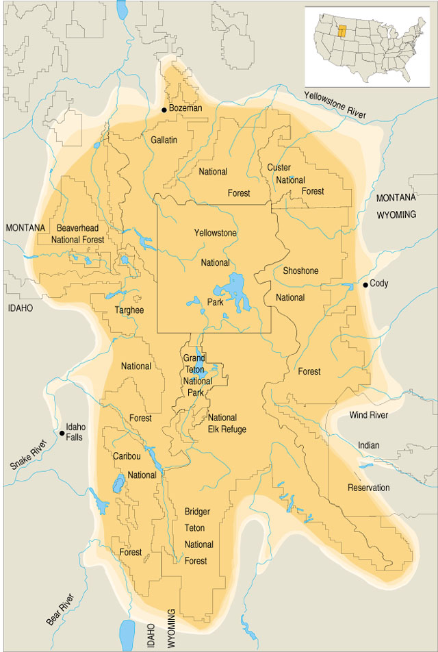 Image Result For Map Of Yellowstone Grand Teton Area