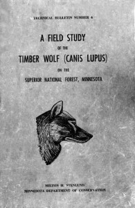 A Field Study of the Timber Wolf (Canis Lupus)